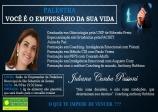 PALESTRA: Você é o empresário de sua vida!